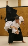 Sensei Roberts performing Koshinage (hip throw)