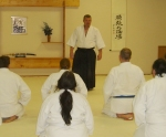 Sensei Roberts adressing class